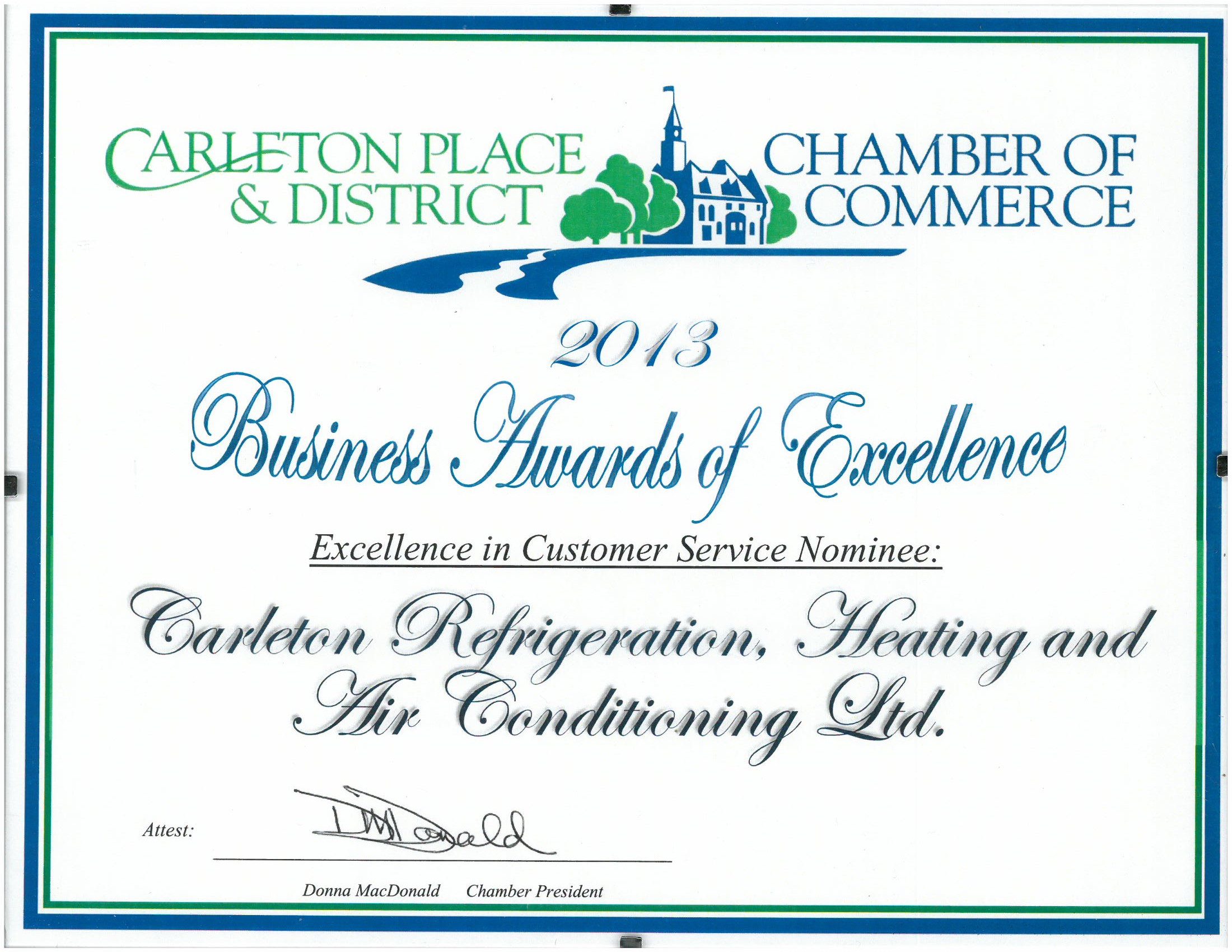 2013 Excellence In Customer Service Nominee