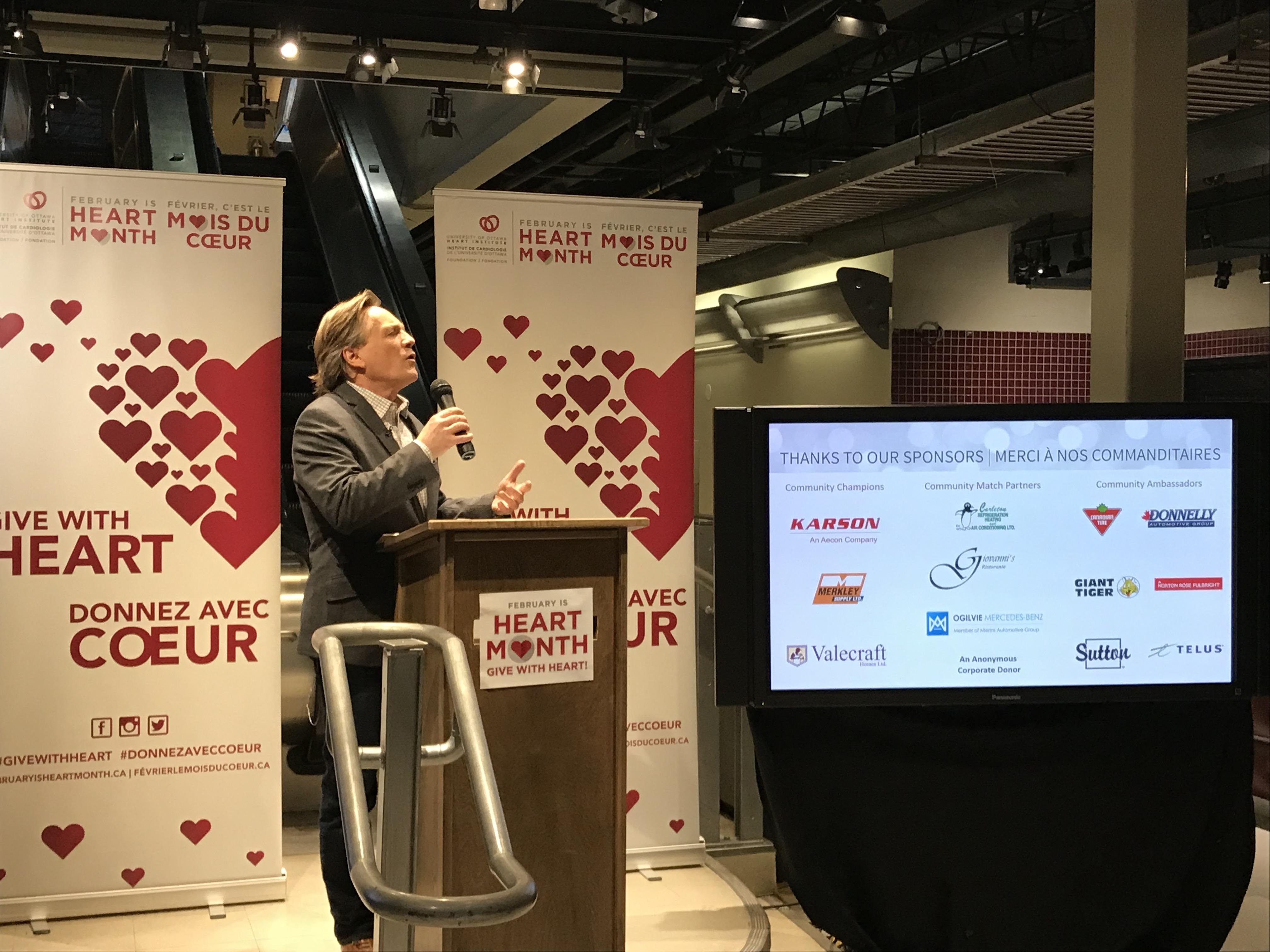 Cheque Presentation To Ottawa Heart Institute
